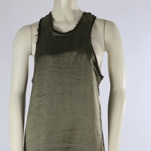 HAIDER ACKERMANN Green Silk Sleeveless Tank Top